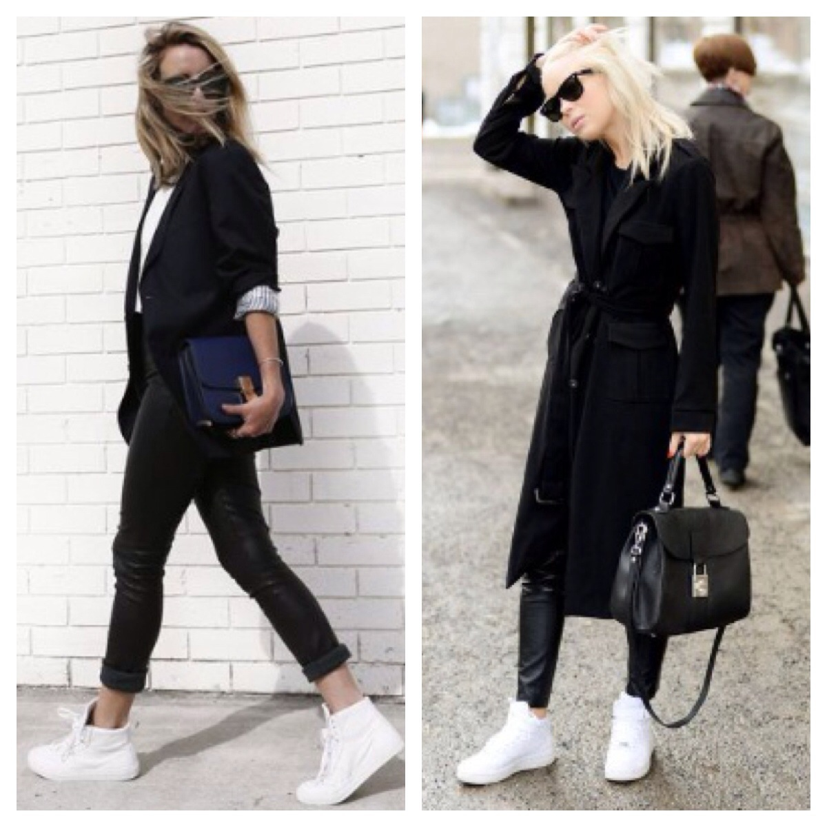 White sneakers trend 2015